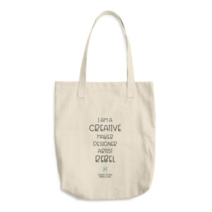 Creative Maker Designer Rebel Cotton Tote Bag