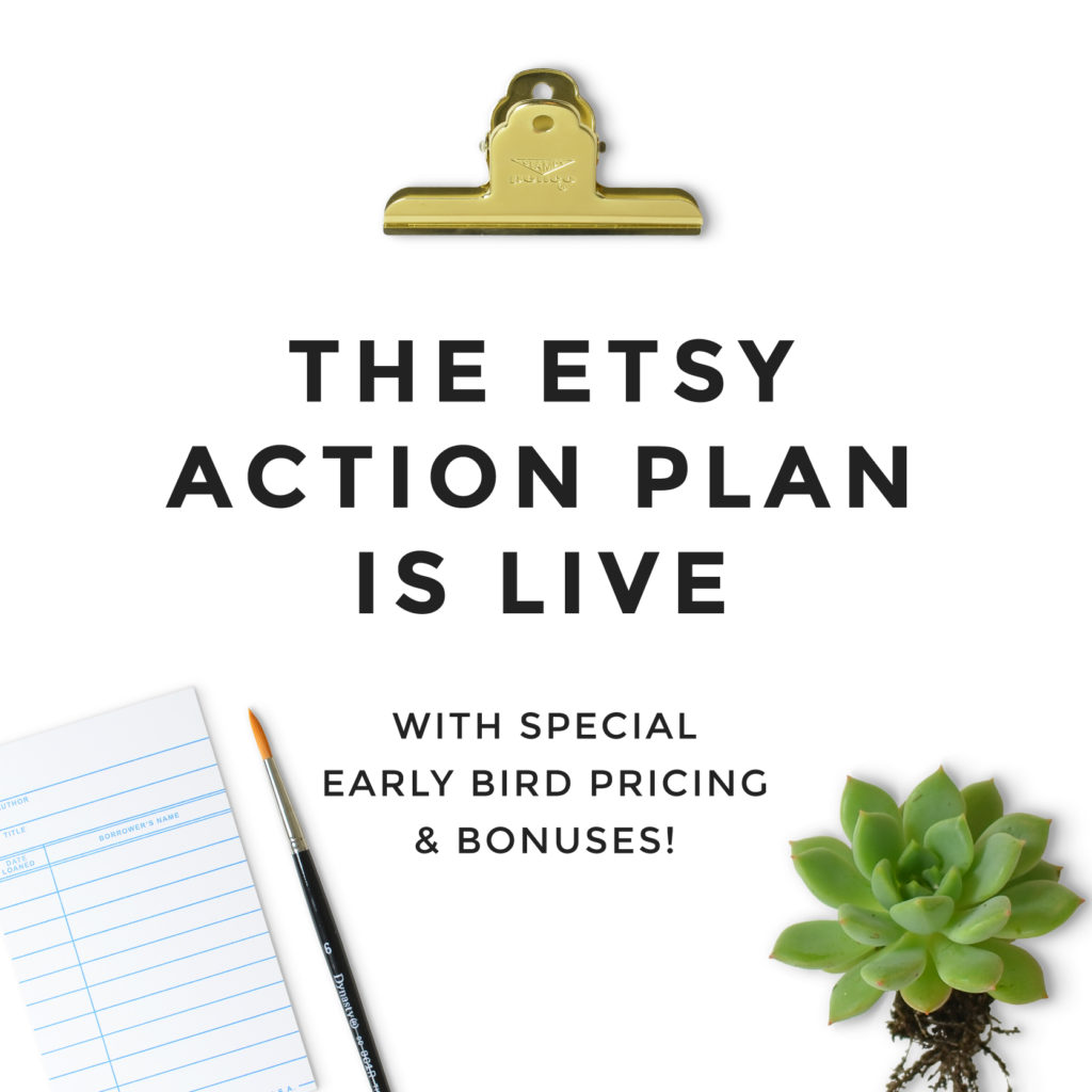 Etsy Action Plan Course is Live!