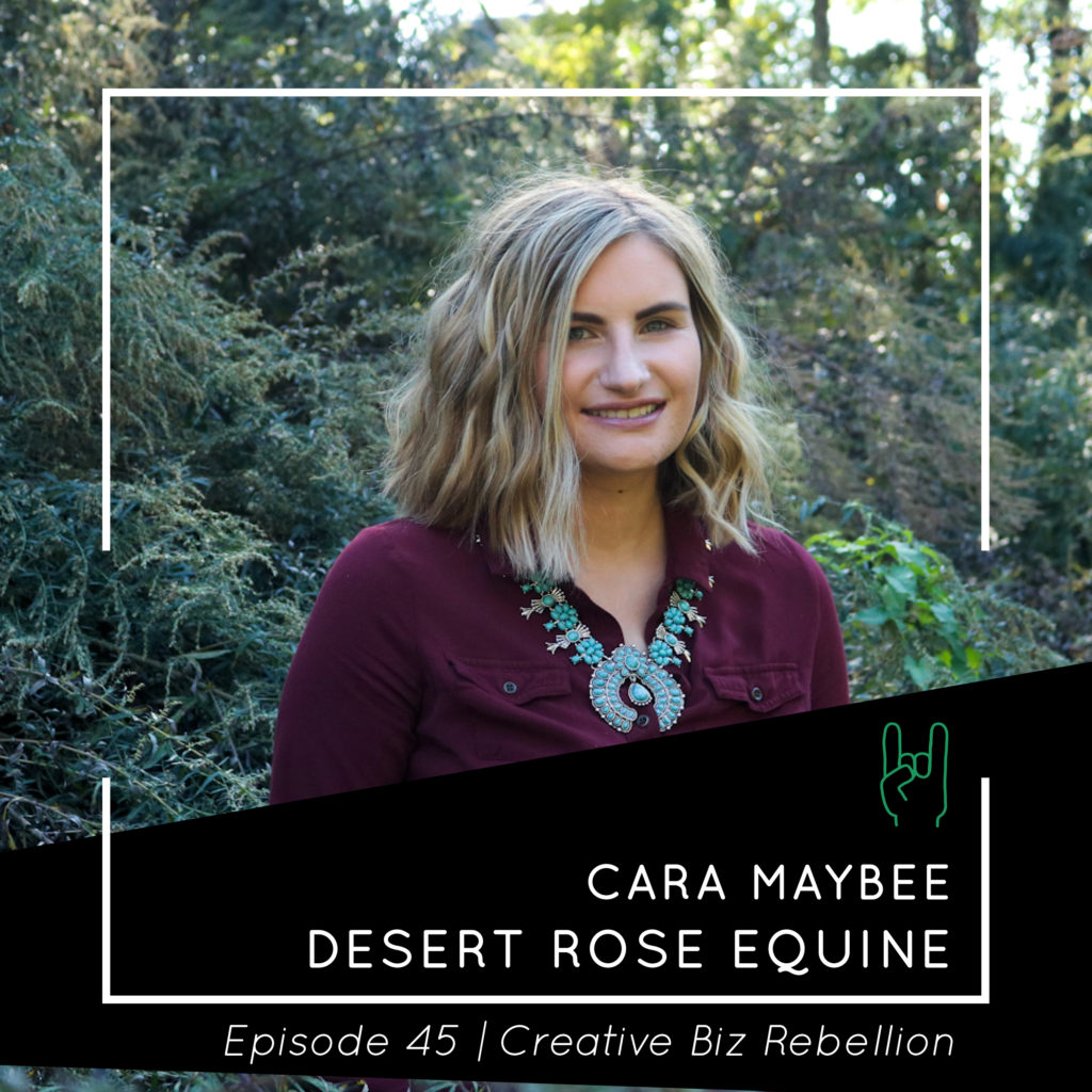 Episode 45 – Shop Talk with Cara Maybee of Desert Rose Equine