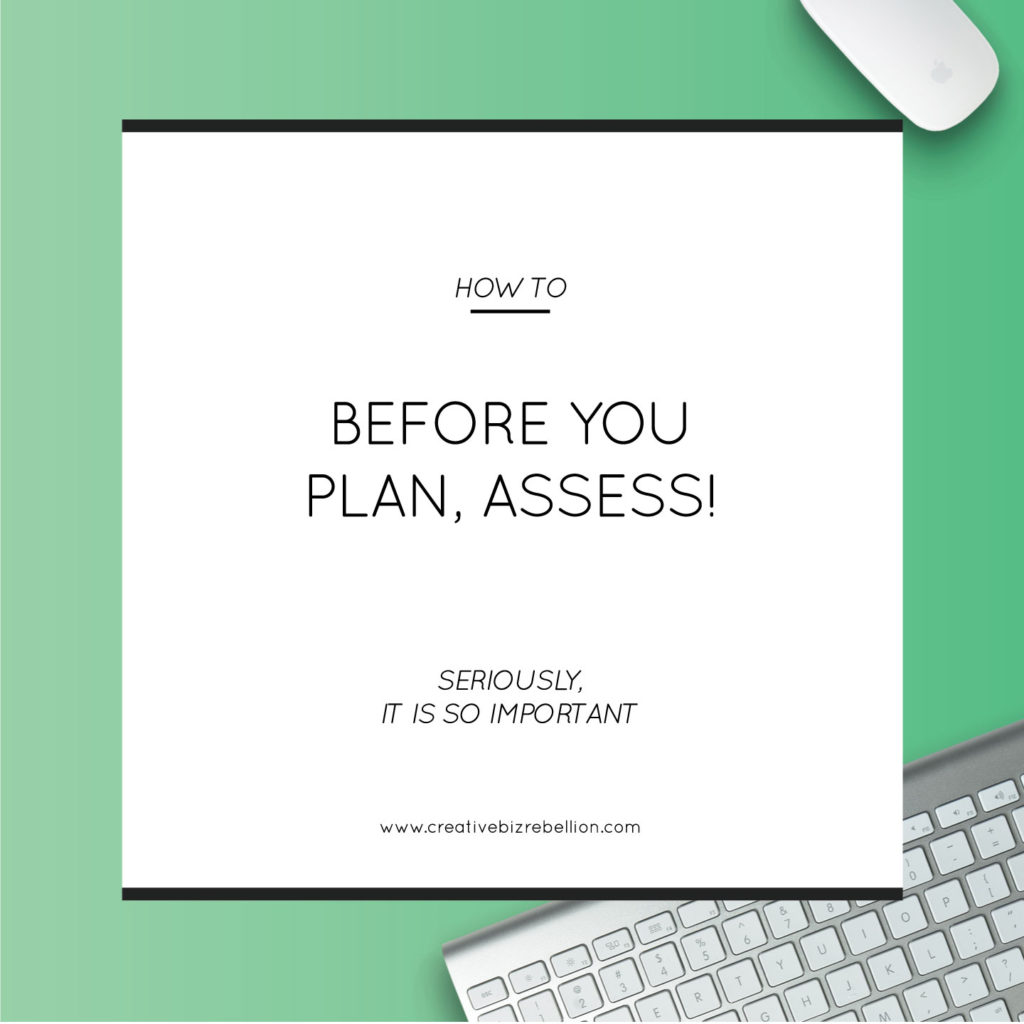 Before You Plan, Assess!